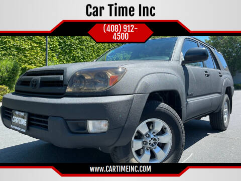 2003 Toyota 4Runner for sale at Car Time Inc in San Jose CA