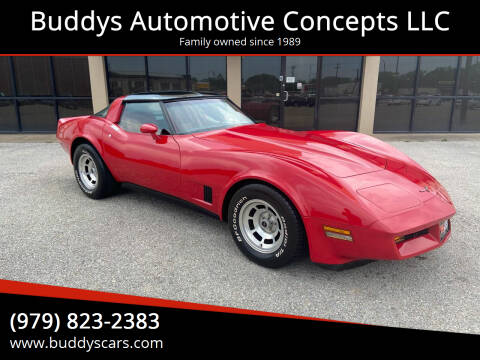 1981 Chevrolet Corvette for sale at Buddys Automotive Concepts LLC in Bryan TX