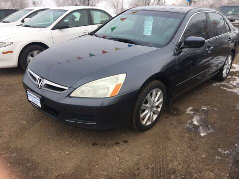 2007 Honda Accord for sale at BARNES AUTO SALES in Mandan ND