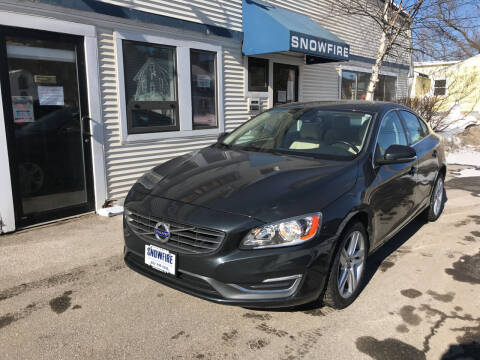 2015 Volvo S60 for sale at Snowfire Auto in Waterbury VT
