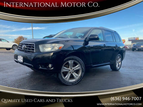 2009 Toyota Highlander for sale at International Motor Co. in St. Charles MO