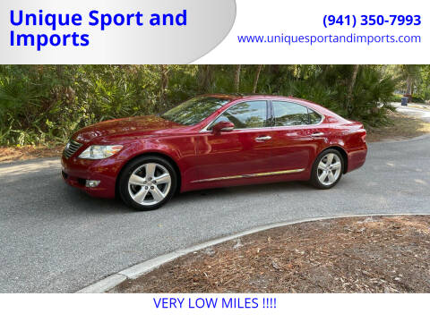 2012 Lexus LS 460 for sale at Unique Sport and Imports in Sarasota FL