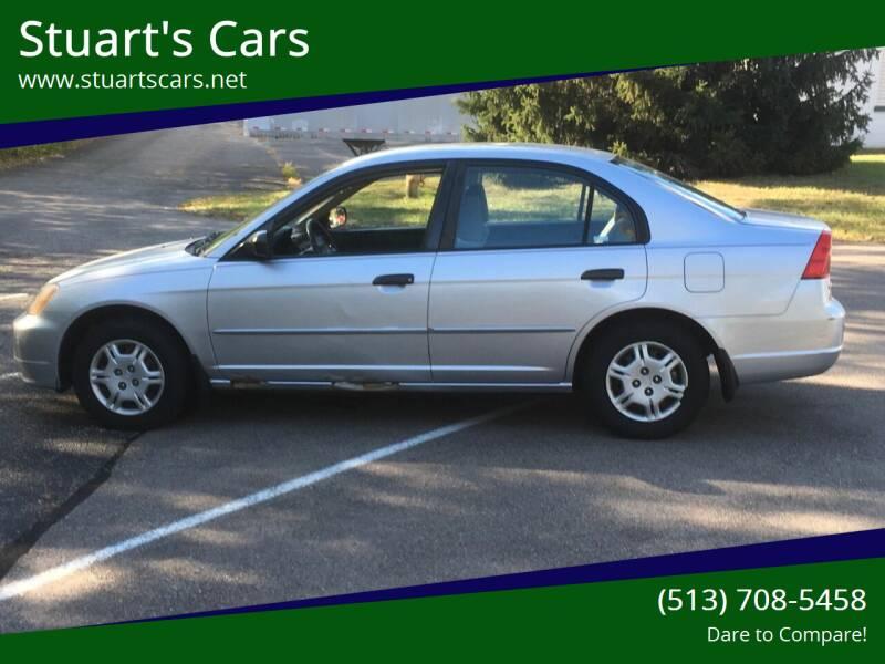 2001 Honda Civic for sale at Stuart's Cars in Cincinnati OH