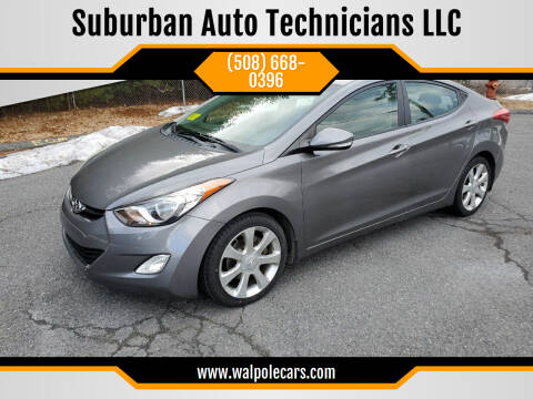 2012 Hyundai Elantra for sale at Suburban Auto Technicians LLC in Walpole MA