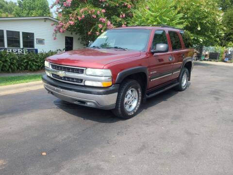 2001 Chevrolet Tahoe for sale at TR MOTORS in Gastonia NC