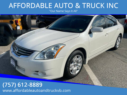 2010 Nissan Altima for sale at AFFORDABLE AUTO & TRUCK INC in Virginia Beach VA