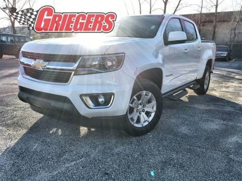 2017 Chevrolet Colorado for sale at GRIEGER'S MOTOR SALES CHRYSLER DODGE JEEP RAM in Valparaiso IN