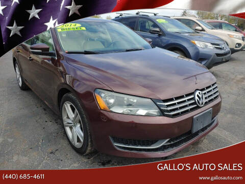 2014 Volkswagen Passat for sale at Gallo's Auto Sales in North Bloomfield OH
