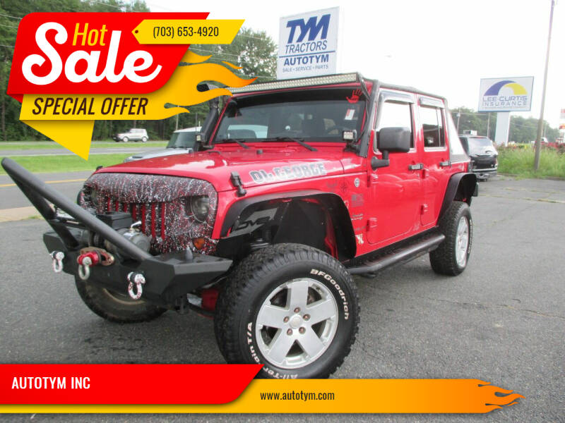 2010 Jeep Wrangler Unlimited for sale at AUTOTYM INC in Fredericksburg VA