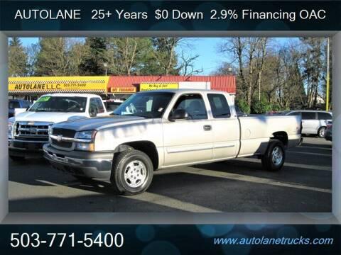 2004 Chevrolet Silverado 1500 for sale at Auto Lane in Portland OR