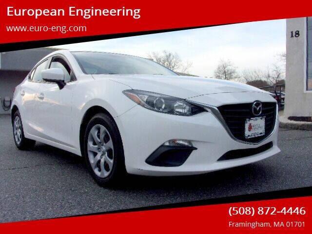 2016 Mazda MAZDA3 for sale at European Engineering in Framingham MA