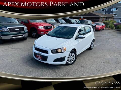 2013 Chevrolet Sonic for sale at Apex Motors Parkland in Tacoma WA