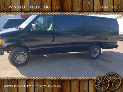 2000 Ford E-350 for sale at DFW AUTO FINANCING LLC in Dallas TX