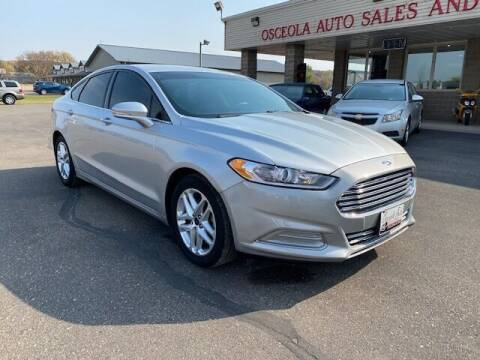 2016 Ford Fusion for sale at Osceola Auto Sales and Service in Osceola WI