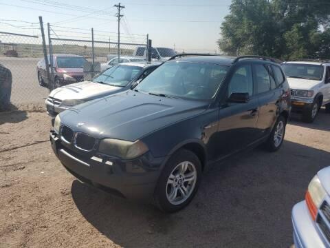 2005 BMW X3 for sale at PYRAMID MOTORS - Pueblo Lot in Pueblo CO
