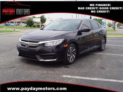 2018 Honda Civic for sale at Payday Motors in Wichita KS