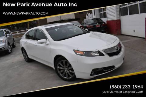 2014 Acura TL for sale at New Park Avenue Auto Inc in Hartford CT
