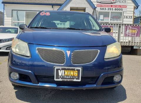 2006 Pontiac Vibe for sale at VIking Auto Sales LLC in Salem OR