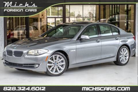 2012 BMW 5 Series for sale at Mich's Foreign Cars in Hickory NC