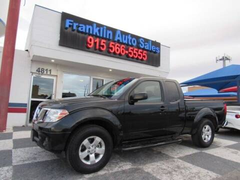2012 Nissan Frontier for sale at Franklin Auto Sales in El Paso TX