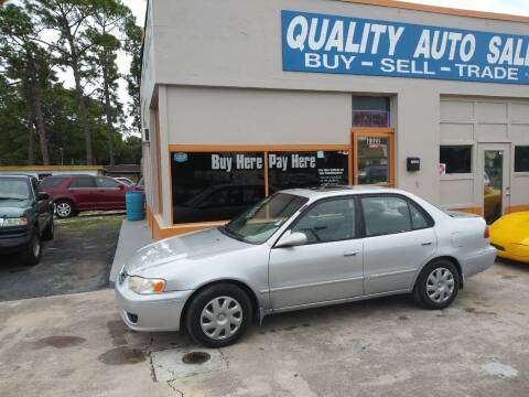 2001 Toyota Corolla for sale at QUALITY AUTO SALES OF FLORIDA in New Port Richey FL