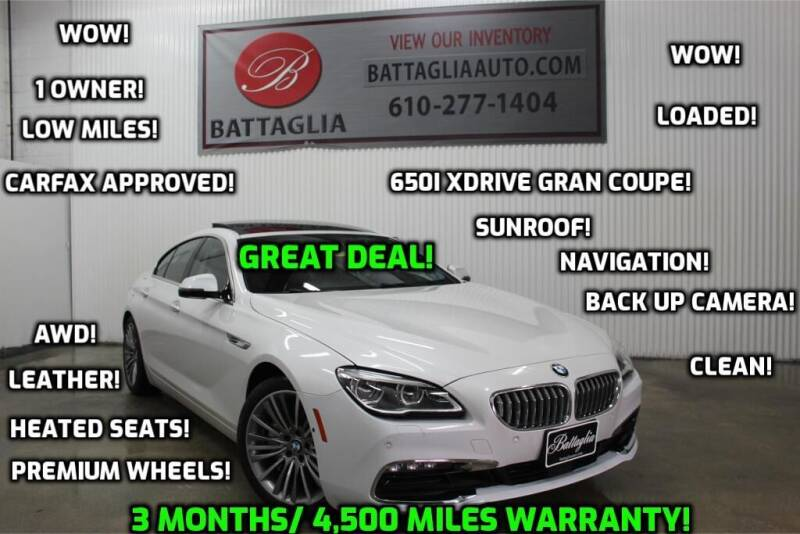 2017 BMW 6 Series for sale at Battaglia Auto Sales in Plymouth Meeting PA