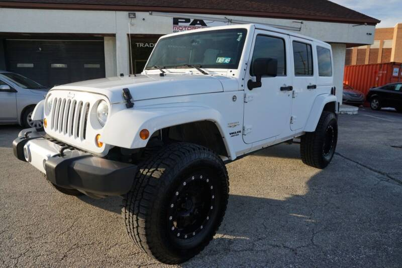 2013 Jeep Wrangler Unlimited for sale at PA Motorcars in Conshohocken PA
