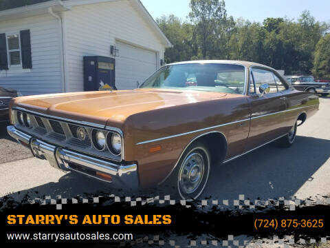 1969 Dodge Polara for sale at STARRY'S AUTO SALES in New Alexandria PA