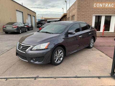 2015 Nissan Sentra for sale at CONTRACT AUTOMOTIVE in Las Vegas NV