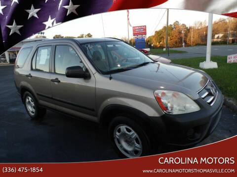 2006 Honda CR-V for sale at CAROLINA MOTORS - Carolina Classics & More-Thomasville in Thomasville NC