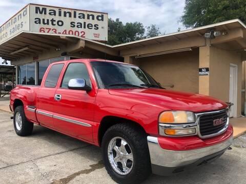 2002 GMC Sierra 1500 for sale at Mainland Auto Sales Inc in Daytona Beach FL