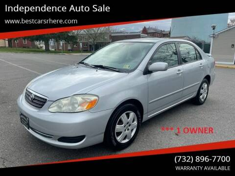2005 Toyota Corolla for sale at Independence Auto Sale in Bordentown NJ