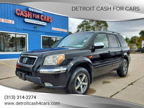 2007 Honda Pilot for sale at Detroit Cash for Cars in Warren MI