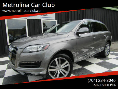 2014 Audi Q7 for sale at Metrolina Car Club in Matthews NC