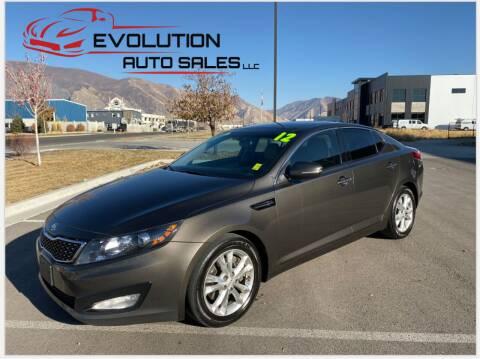 2012 Kia Optima for sale at Evolution Auto Sales LLC in Springville UT