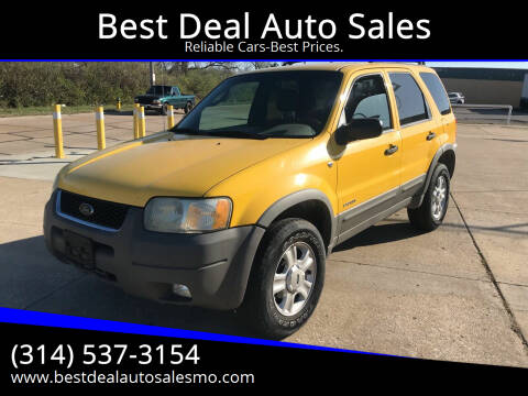 2002 Ford Escape for sale at Best Deal Auto Sales in Saint Charles MO