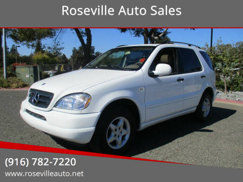 2000 Mercedes-Benz M-Class for sale at Roseville Auto Sales in Roseville CA