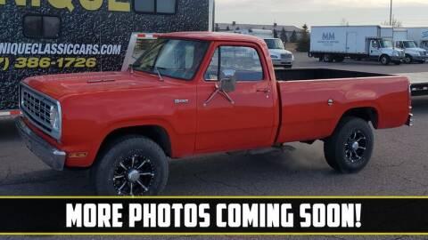 1976 Dodge Power Wagon for sale at UNIQUE SPECIALTY & CLASSICS in Mankato MN