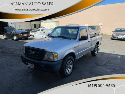 2007 Ford Ranger for sale at ALLMAN AUTO SALES in San Diego CA