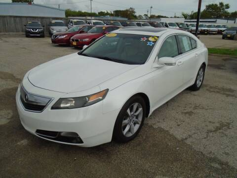2013 Acura TL for sale at BAS MOTORS in Houston TX