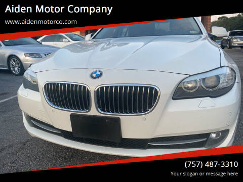 2013 BMW 5 Series for sale at Aiden Motor Company in Portsmouth VA