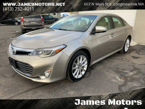 2013 Toyota Avalon for sale at James Motors Inc. in East Longmeadow MA