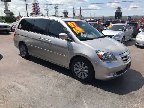 2007 Honda Odyssey for sale at Texas 1 Auto Finance in Kemah TX