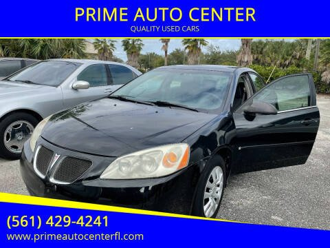 2007 Pontiac G6 for sale at PRIME AUTO CENTER in Palm Springs FL