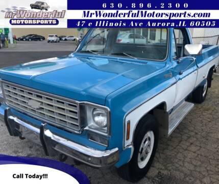 1976 Chevrolet C/K 10 Series for sale at Mr Wonderful Motorsports in Aurora IL