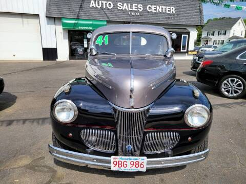 1941 Ford Deluxe for sale at Auto Sales Center Inc in Holyoke MA