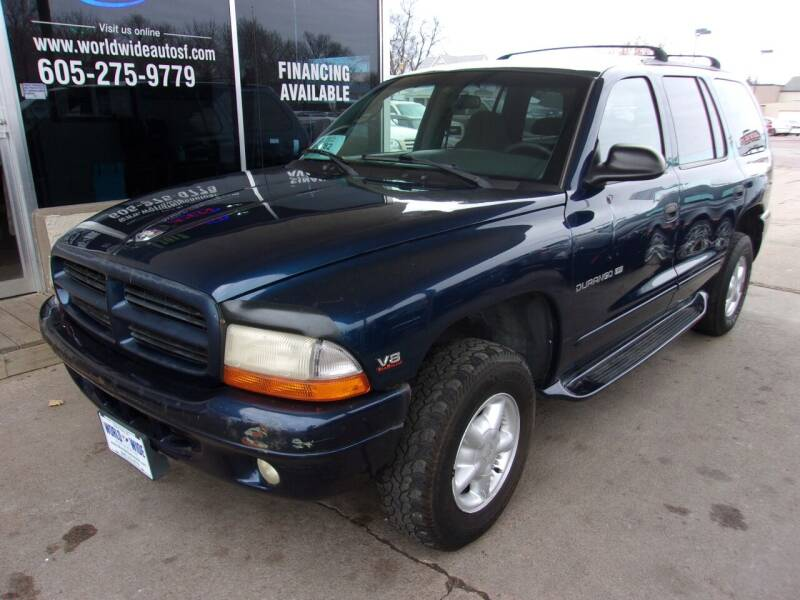 2000 Dodge Durango for sale at World Wide Automotive in Sioux Falls SD
