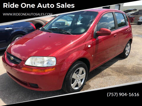 2008 Chevrolet Aveo for sale at Ride One Auto Sales in Norfolk VA