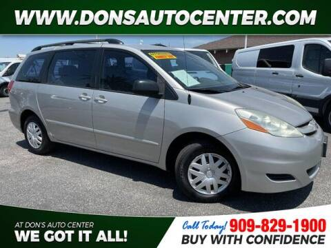 2006 Toyota Sienna for sale at Dons Auto Center in Fontana CA