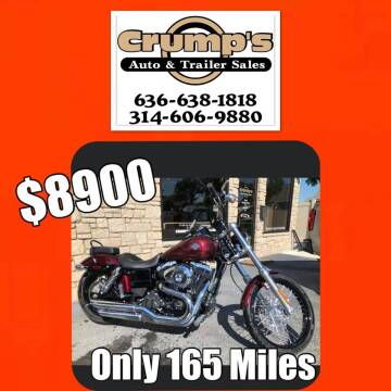 2015 Harley Davidson Dyna for sale at CRUMP'S AUTO & TRAILER SALES in Crystal City MO
